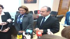 Declarații de presă cu ocazia întrevederii primarului Emil Boc cu E.S. Dna. Mahbouba CHEBBI GUIGA, ambasadorul Republicii Tunisia în România
