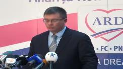 Declarație de presă susținută de co-președintele ARD, Mihai Răzvan Ungureanu