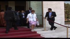 Ceremonia de inaugurare a conferinței Mondiale de la Geneva, la care este prezent și președintele parlamentului Republicii Moldova, Mihai Ghimpu. Imagini de pe presedinte.md