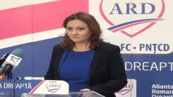 Conferință de presă susținută de candidatul ARD în Colegiul 21, Camera Deputaților, Cristina Trăilă
