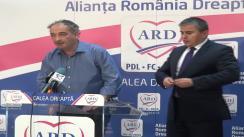 Declarație de presă susținută de Gabriel Biriș și Traian Răzvan Ungureanu