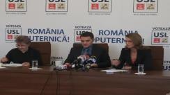 Conferință de presă susținută de deputatul PNL, Alina Gorghiu, și senatorul PSD, Dan Șova