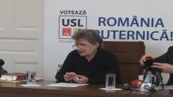 Conferință de presă susținută de candidatul USL pentru Senat Dolj, Cristiana Anghel