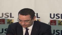 Conferință de presă susținută de liderii USL la Iași : Victor Ponta și Crin Antonescu
