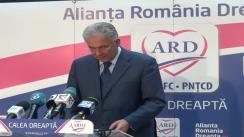 Conferință de presă susținută de coordonatorul campaniei electorale a ARD, Adriean Videanu și Europarlamentarul PDL, Cristian Preda