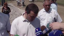 Declarații pentru presă a prim-ministrului Vlad Filat după vizita de lucru la locul unde urmează să fie deschis șantierul pentru construcția caselor predestinate sinistraților din lunca Prutului