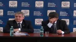 Conferință de presă susținută de candidații ADR Cluj la alegerile parlamentare Daniel Buda și Alexandru Coroian