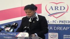 Conferință de presă susținută de candidatul ARD în Colegiul 4, Senat, Anca Boagiu