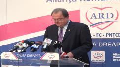 Conferință de presă susținută de co-președintele ARD, Vasile Blaga