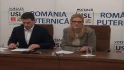 Conferinţă de presă susţinută de Europarlamentarul PSD, Cătălin Ivan şi Europarlamentarul PNL Ramona Mănescu