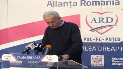 Conferință de presă susținută de candidatul ARD în Colegiul 1, Senat, Doru Mărieș
