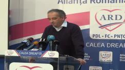 Conferință de presă susținută de purtătorul de cuvânt al ARD, Traian Ungureanu