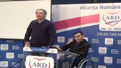Conferință de presă susținută de candidatul ARD în Colegiul 8, Senat, Iulian Crăciun
