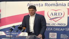 Conferință de presă susținută de candidatul ARD în Colegiul 6, Camera Deputaților, Cristian Boureanu