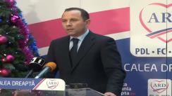 Conferință de presă susținută de co-președintele ARD, Aurelian Pavelescu