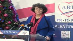 Conferinţă de presă susţinută de candidatul ARD în Colegiul 6, Senat, Sandra Pralong