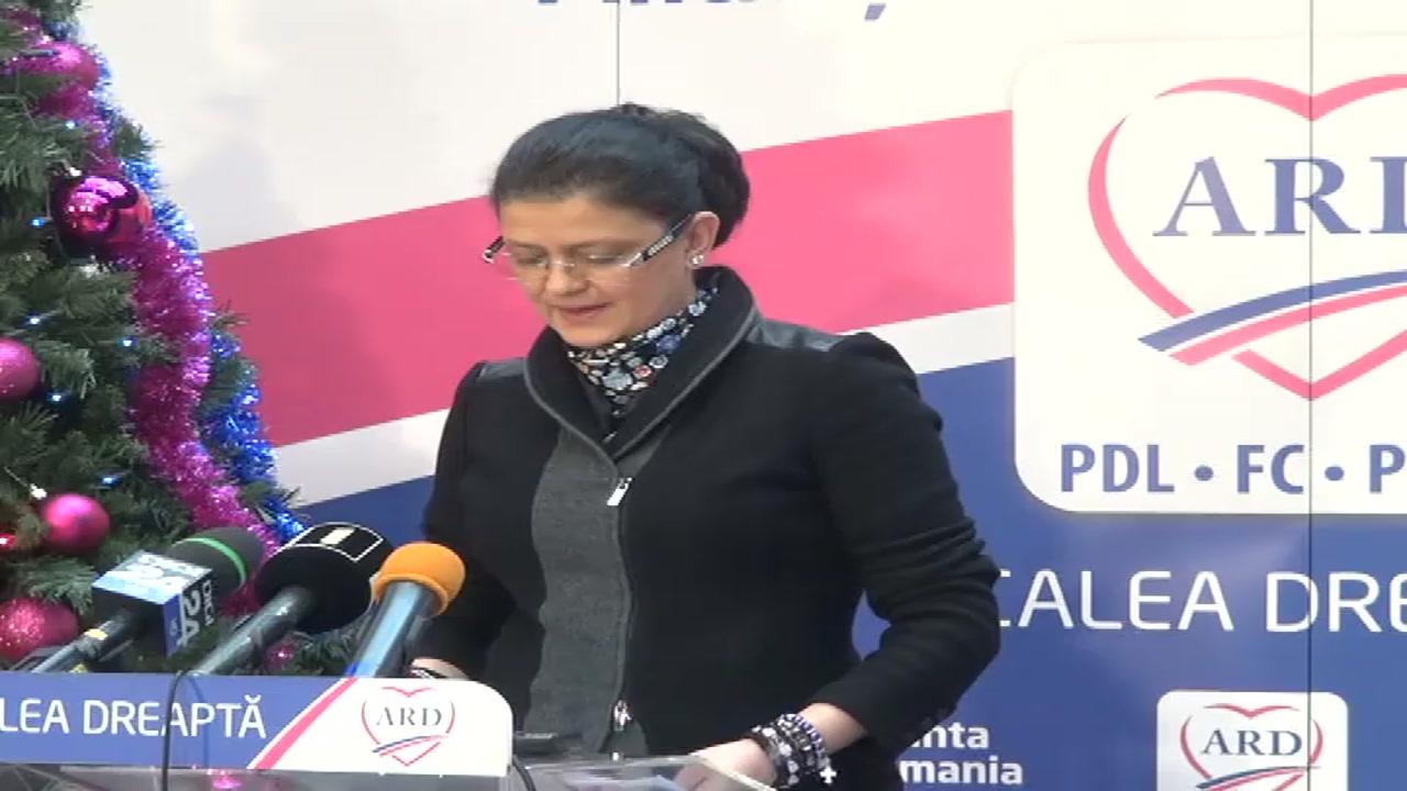 Conferinţă de presă susţinută de candidatul ARD în Colegiul 4, Senat, Anca Boagiu