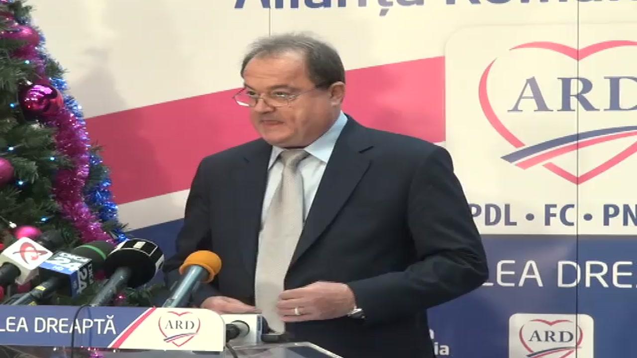 Conferinţă de presă susţinută de co-preşedintele ARD, Vasile Blaga
