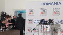 Conferință de presă susținută de copreședintele USL, Crin Antonescu