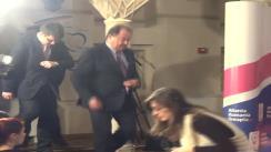 Conferință de presă susținută de liderii Alianței România Dreaptă la închiderea secțiilor de vot