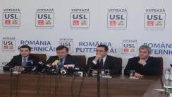 Conferință de presă susținută de liderii Uniunii Sociale Liberale
