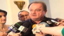Declarații de presă susținute de președintele PDL, Vasile Blaga și președintele PNȚCD, Aurelian Pavelescu