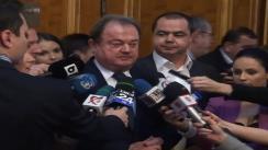 Declarațiile președintelui PDL, Vasile Blaga, după ședința Colegiului Director Național al PDL
