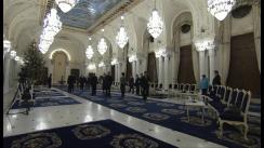 Întâlnirea Președintelui României, Traian Băsescu cu liderii partidelor parlamentare cu referire la desemnarea prim-ministrului (imagini protocolare)