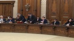 Audierea lui Dan Șova la postul de Ministru Marile Lucrări Publice
