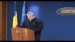 Conferință de presă susținută de viceprim-ministrul Gabriel Oprea cu tema: Situația din țară privind deszăpezirea și starea drumurilor