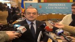 Declarații de presă Emil Boc, primarul municipiului Cluj-Napoca, după ședința Consiliului Local din 14.01.2013