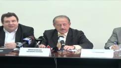 Conferința de presă organizată de Consiliul Național al Intreprinderilor Private Mici și Mijlocii din România