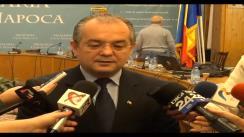 Declarații de presă Emil Boc, primarul municipiului Cluj-Napoca, cu ocazia conferinței săptămânale de presă