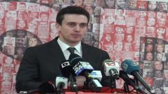 Conferință de presă susținută de purtătorul de cuvânt al PSD, Cătălin Ivan, și vicepreședintele PSD, Ecaterina Andronescu