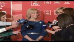 Declarații de presă susținute de senatorul PSD, Gabriela Vrânceanu Firea