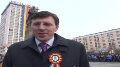 Felicitarea Primarului Municipiului Chișinău, Dorin Chirtoacă la Iași cu ocazia sărbătorii Unirii Principatelor Române