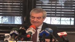 Conferință de presă susținută de senatorul PNL, Călin Popescu-Tăriceanu