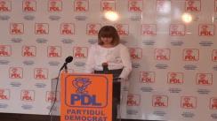Conferință de Presă Susținută de secretarul executiv al PDL Cristina Dobre, președintele Comisiei de Sănătate a PDL