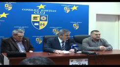 Conferință de presă susținută de Președintele CJ Cluj Horea Uioreanu, Leonard Doroftei, Președintele Federației Române de Box, și Titi Tudor, antrenor emerit de box
