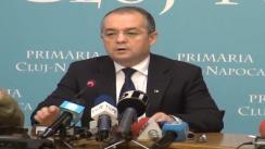 Conferință de presă susținută de primarul municipiului Cluj-Napoca, dl. Emil Boc. 6 februarie 2013