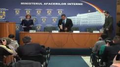 Conferință de Presă Susținută de  Ministrul Afacerilor Interne, Radu Stroe