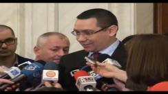 Declarații de presă susținute de prim-ministrul României, Victor Ponta