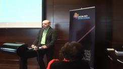 Conferință de presă susținută în România de Michael Koch, CEO Catalyst Worldwide, o companie de dezvoltare de software