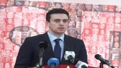 Conferință de presă susținută de purtătorul de cuvânt al PSD, Cătalin Ivan