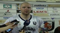 Declarații de presă oferite de Mihai Silvășan (U Mobitelco Cluj) și Zoran Krstanovic (Gaz Metan Mediaș) după meciul de baschet U Mobitelco - Gaz Metan 59:84