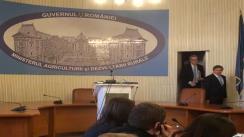 Declarații de presă susținute de premierul României, Victor Ponta, ministrului Agriculturii și Dezvoltării Rurale, Daniel Constantin, și comisarului european Dacian Cioloș