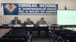 Conferință de presă organizată de Consiliul Național al Intreprinderilor Private Mici și Mijlocii din România