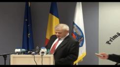 Declarație de presă susținută de primarul general București, Sorin Oprescu, pe tema proiectului de modificare a legii taximetriei și măsurile care trebuie luate pentru îmbunătățirea activității de taxi din capitală