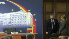 Semnarea Regulamentulului de Organizare și Funcționare a Centrului Comun de Contact Galați de către ministrul afacerilor interne al României, Radu Stroe, și omologul său din Republica Moldova, Dorin Recean