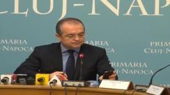 Declarații de presă oferite de dl. Emil Boc, primarul municipiului Cluj-Napoca, după conferința de presă legată de bugetul participativ